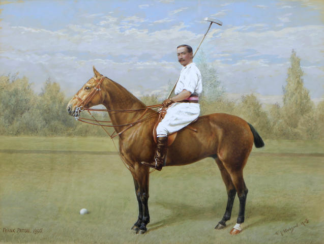 Frank Paton (British, 1856-1909), and Cecil James Hobson (British, 1874-1918) The polo player 14 x 18in