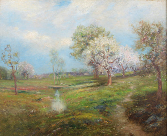 Edward B. Gay (American, 1837-1928) Summer landscape, 1905 19 1/2 x 24in