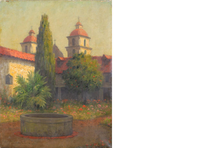 William Barr, Santa Barbara Mission Courtyard