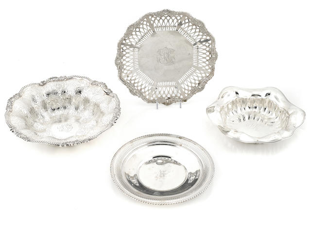 A group of American sterling silver hollowware