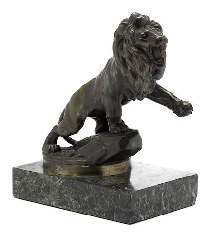 A 'Peugeot Lion' showroom display, signed M. Marx, c. 1925,