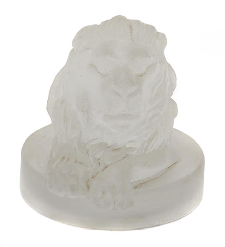 A glass 'Lions Head' mascot,