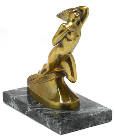 A 'Cote' dAzure' statuette by Lalique, c.30s,