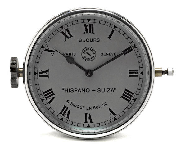 A Hispano-Suiza Clock, by Jaeger Paris,