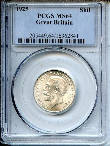 Great Britain, 1925 Shilling MS64 PCGS