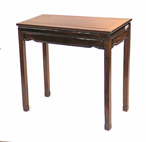 A Chinese hardwood side table