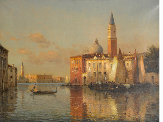 Bouvard Evening - Grand Canal, Venice 19 3/4 x 25 1/2in (50.1 x 64.7cm)