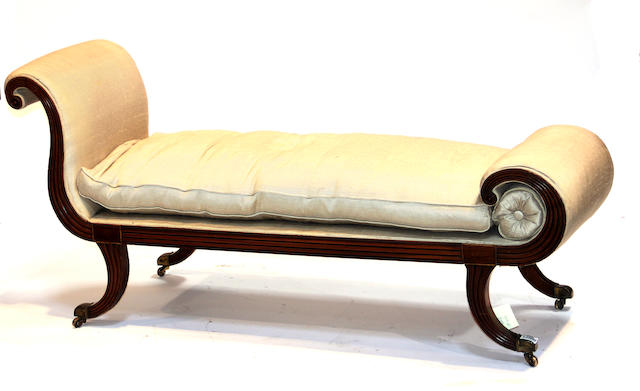 A Regency  walnut sofa early 19th century