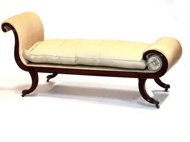A Regency  walnut sofa early 19th century