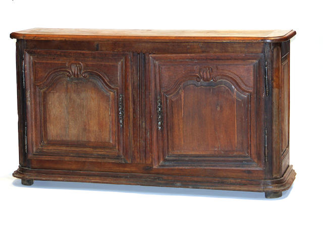 A Louis XV walnut side cabinet