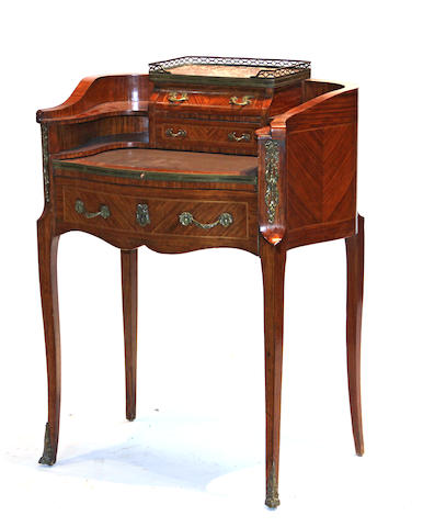 A Louis XV style kingwood bureau de dame late 19th/early 20th century