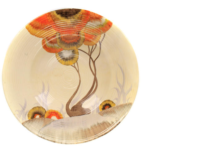 A Clarice Cliff Rodanthe charger