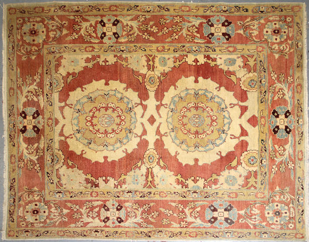 A Hamadan carpet size approximately 9ft. 9in. x 13ft. 5in.