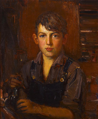 Joseph Kleitsch (1882-1931) Portrait of Eugene (The artist's son) 24 x 20in