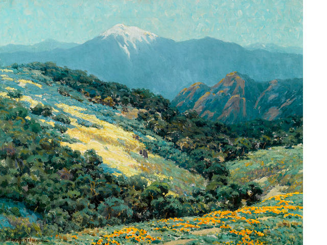 Granville Redmond (American, 1871-1935) Valley splendor 20 1/4 x 25in