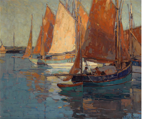 Edgar Payne (1883-1947) Concarneau harbor 25 1/4 x 30 1/4in