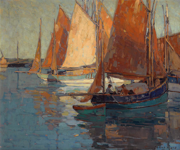 Edgar Payne (1883-1947) Concarneau harbor 25 1/4 x 30 1/4in
