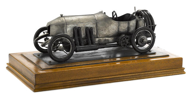 A  model of DePalma's Mercedes-Benz 1911 racecar by LaFollette 1979,
