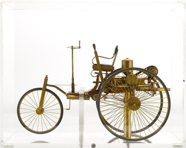 A fine scratch built Mercedes 'Motorwagen' model,