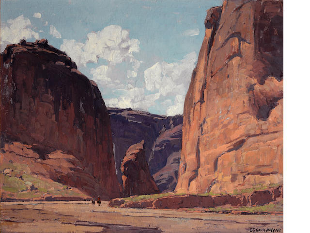 Edgar Payne (1883-1947) Canyon gateway 28 1/4 x 34 1/4in