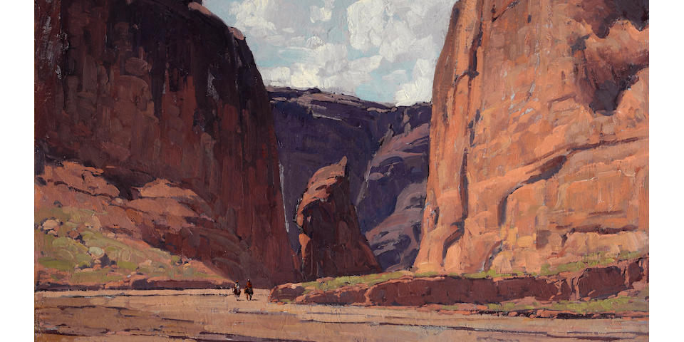 Edgar Payne (1883-1947) Canyon gateway 28 1/4 x 34 1/4in