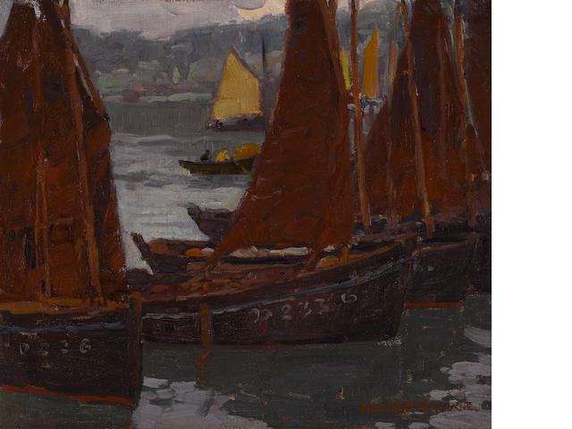Edgar Payne (1883-1947) Fishing boats 13 1/4 x 15in