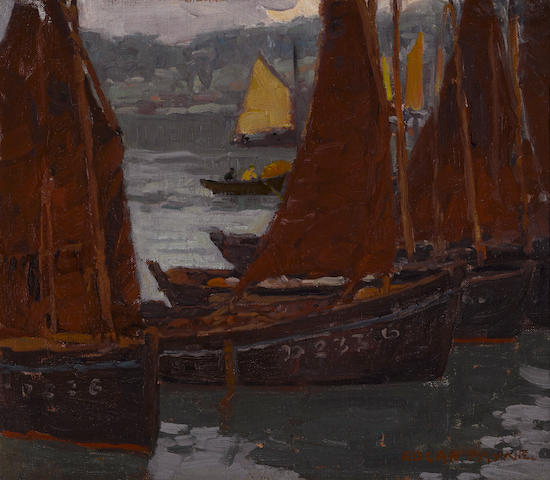 Edgar Payne (1883-1947) Fishing boats 13 1/4 x 15in