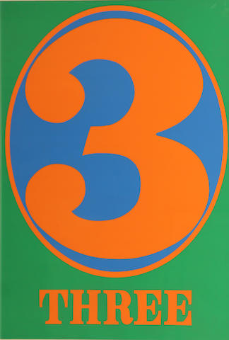 Robert Indiana (American, born 1928); 3, from Numbers;
