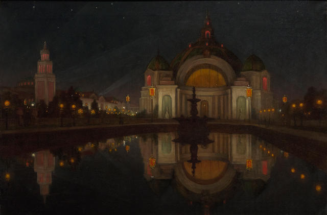 William Barr (British/American, 1867-1933) Panama Pacific International Exposition, Festival Hall 24 1/4 x 36 1/4in
