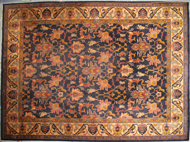 A European carpet size approximately 9ft. 7in. x 13ft. 1in.