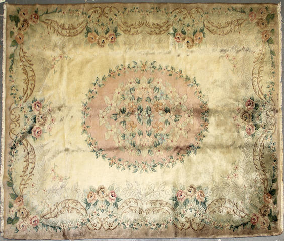 A Spanish Savonnerie carpet size approximately 7ft. x 9ft. 10in.