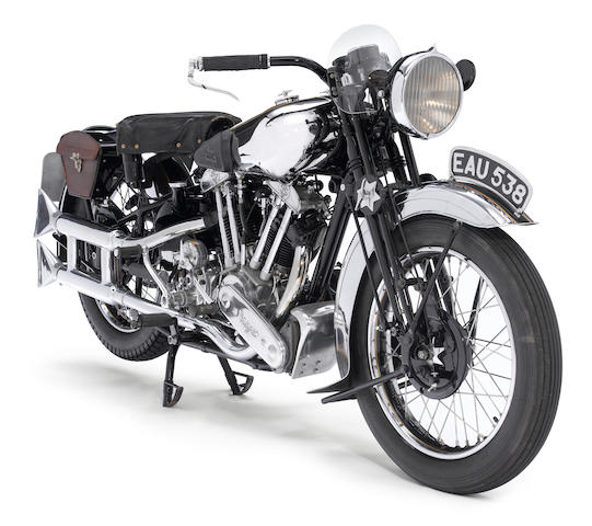 J W Tennant-Eyles restoration,1937 Brough Superior SS100 Frame no. M1/1897 Engine no. BS/X2 1099