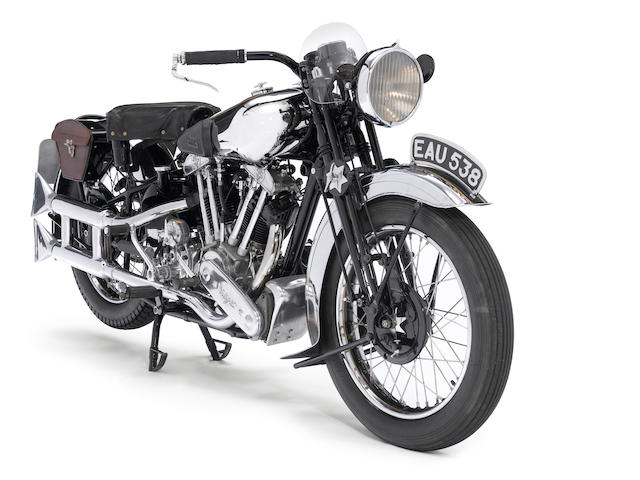 J W Tennant-Eyles restoration,,1937 Brough Superior SS100 Frame no. M1/1897 Engine no. BS/X2 1099