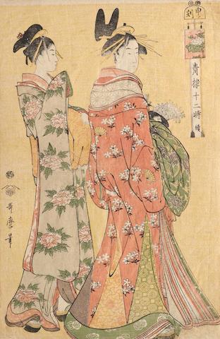 Kitagawa Utamaro (1753?-1806) One woodblock print