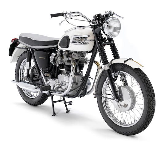 The ex-Otis Chandler,1963 Triumph 649cc T120 Bonneville Frame no. DU4402 Engine no. T120 DU4402