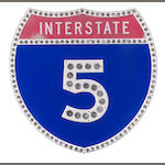 A California interstate 5 sign,
