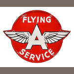 A Flying A service sign, c. 50s,