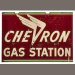 A Cheveron Gas Station sign, c.50s,