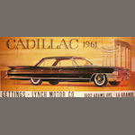 A large full size roadside billboard,' Cadillac Sedan 1961', c.60s,