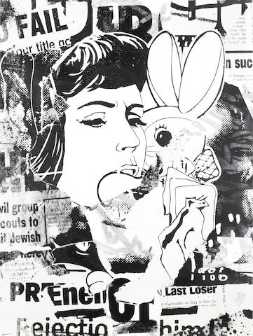 Faile (American, Canadian, founded 1999) Bunny Girl PDX