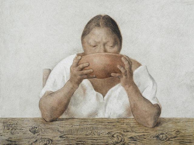 Francisco Zúñiga (1912-1998); Mujer con Olla ;