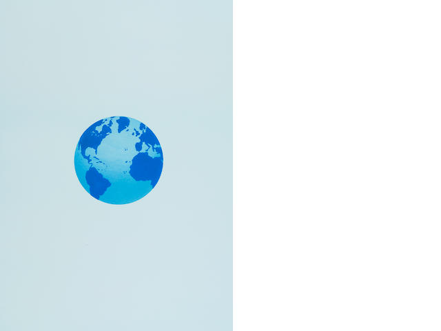 Ed Ruscha, The Globe and its Surroundings, 1982, Lithograph, 28 3/8 x 20 1/8 inches (72.1 x 51.1 cm)