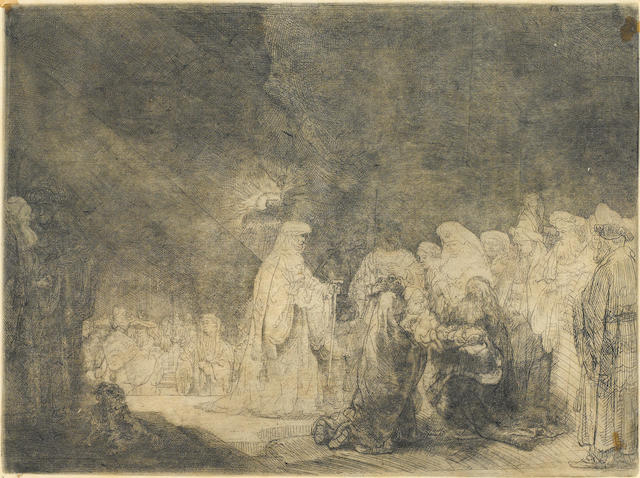 Rembrandt Harmensz van Rijn (1606-1669); The Presentation in the Temple;