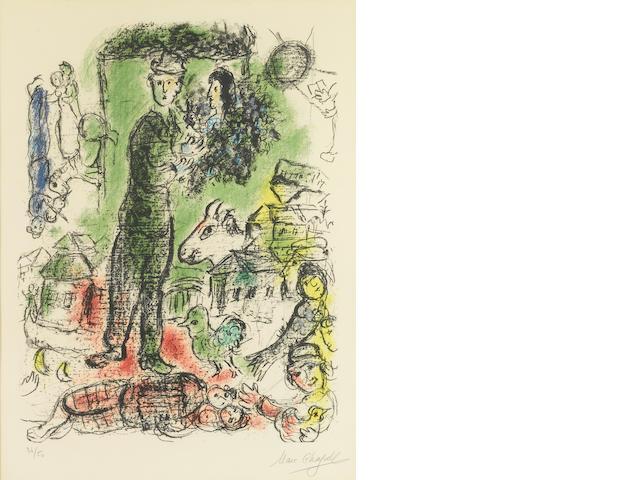 Marc Chagall, Le Grand Paysan, (M. 549), 1968