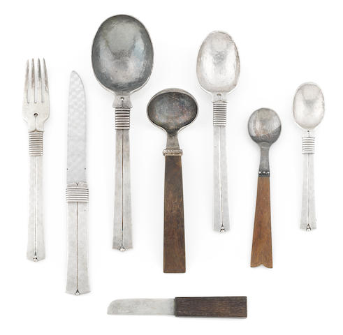 Collection of Sprattling Sterling Flatware. 39 PC