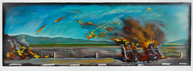 Carlos Almaráz (Mexican/American, 1941-1989); West Coast Crash;