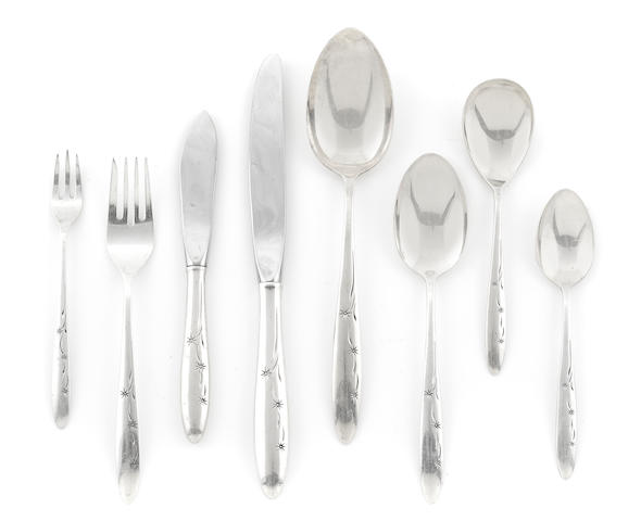 A Gorham sterling silver flatware service in the Celeste pattern circa 1957
