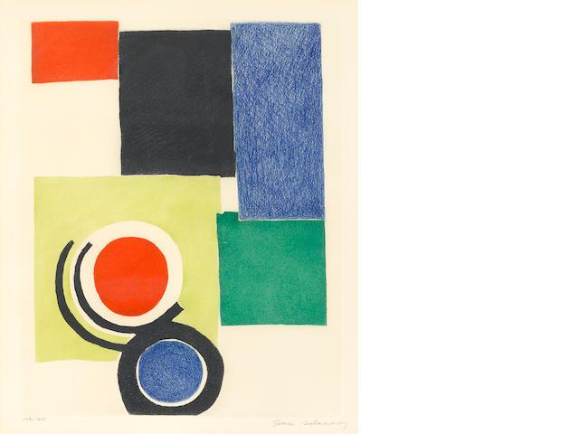 "Sonia Delaunay, lithograph, 15 1/2 x 19 1/2"", 103/125"