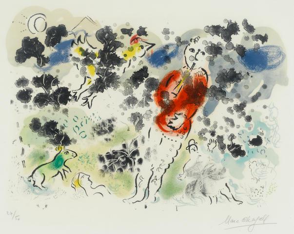 Marc Chagall (1887-1985); Le Clown à la flûte I;