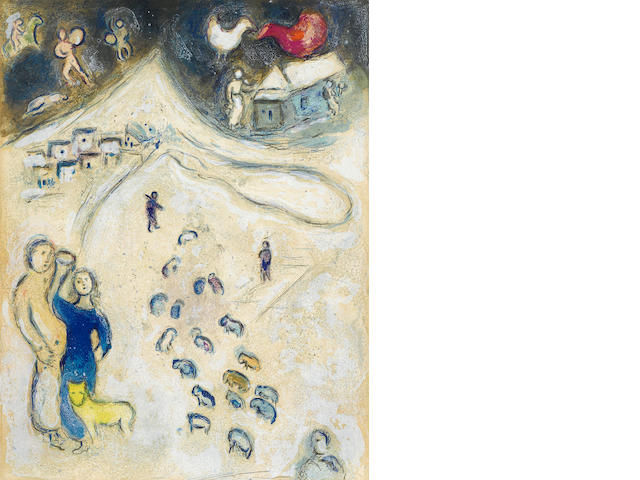 Marc Chagall, L'hiver from Daphnis and Chloe, (M.333)